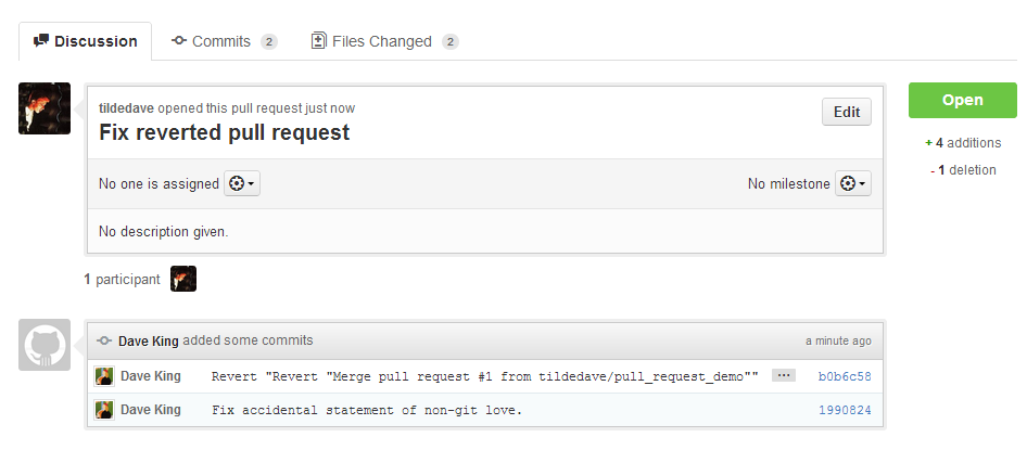 Make a Branch to Fix the Reverted Pull Request